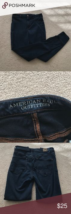 American Eagle sky high jeggings No rips, skinny jeggings, lightly worn, navy blue American Eagle Outfitters Jeans Skinny