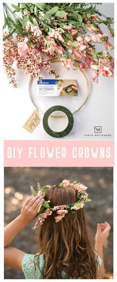 DIY Flower Crowns Learn how to make your own DIY Flower Crowns for your next party or adventure! This simple craft can be made in a few minutes! The post DIY Flower Crowns appeared first on Easy flowers. Simple Flowers, Diy Flowers, Simple Flower Crown Diy, Flower Crown Tutorial, Flower Diy, Flowers Garden, Flower Ideas, Flower Wall, Baby Flower Crown