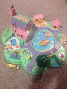 Vintage Polly Pocket Polly's Dream World Bluebird Toys Camp Beach Includes Canoe and Rabbit Figures on Etsy, $43.68 CAD