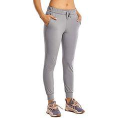 CRZ YOGA Pantaloni Sportivi da Donna Jogging Fitness Casual Pantaloni con Tasche