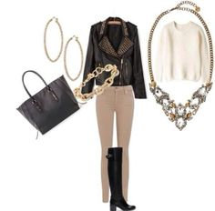 love a statement necklace with a casual outfit #stelladotstyle #ootd
