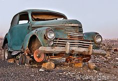 Photo about Old broken rusty abandoned car without wheels. Image of garbage, time, junkyard - 17576653 Vintage Cars, Antique Cars, Automobile, Old American Cars, Car Breaks, Rust In Peace, Abandoned Cars, Abandoned Vehicles, Abandoned Places