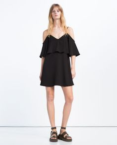 Image 1 of OFF-THE-SHOULDER DRESS from Zara