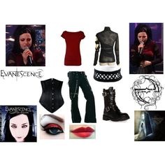 """""""Amy Lee of Evanescence Inspired II"""" by kamelotica on Polyvore"""