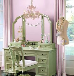Love the green and lilac together