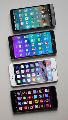 Big smartphones like these fared well in a recent study on customer satisfaction.