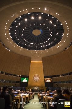 25-09-2015 Pope Francis in the USA - Visit to the United Nations- Visita a la sede de la ONU