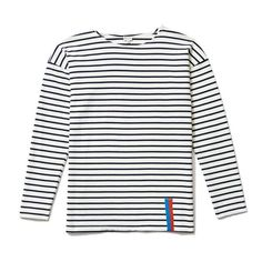 One can't ignore history when it comes to classic striped tops, and so The Boyfriend bases its design in the styles worn most by Picasso and Brigitte Bardot. A drop shoulder and roomy, almost smock-li