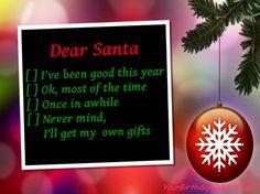 Funny Christmas quotes - Santa's Naughty & Nice List