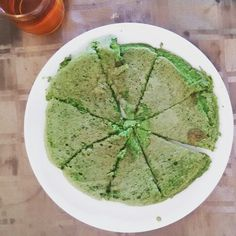 Groen ontbijt! Eieren met boerenkool en een beetje Keltisch zeezout. Heerlijk en voedzaam!