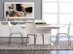 Dania - Tables - Brick Dining Table - White