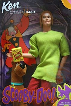 Barbie Ken as Shaggy in Scooby-Doo by Mattel. Ken is dressed like Shaggy from Scooby-Doo. Released Includes Ken/Shaggy and Scooby-Doo Figures. Barbie Go, Barbie Life, Vintage Barbie Dolls, Barbie World, Mattel Barbie, Barbie And Ken, Scooby Doo Cartoon Network, Shaggy Scooby Doo, Barbie Celebrity