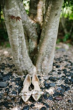 @palomablancawed Wedding Shoes of Paloma Blanca Real Bride Adrienne.   Every woman has her dream wedding shoes, no matter the height or style, it can be a nice and unique detail to your wedding look.