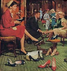 Shoe shopping | Brown Shoe Company, 1958