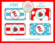 Free Dr. Seuss Mini Candy Bar Printables