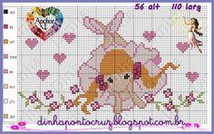 Dinha Ponto Cruz: Gráficos ponto cruz motivos diversos Cross Stitch For Kids, Sweet Girls, Perler Beads, Cross Stitch Patterns, Kids Rugs, Fairies, Ballerina, Lavender, Angels