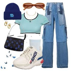 Kpop Fashion Outfits, Girly Outfits, Retro Outfits, Cute Casual Outfits, Stylish Outfits, Cute Sweatpants Outfit, Estilo Indie, Outfit Combinations, Polyvore Outfits