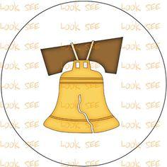 AMERICAN LIBERTY BELL  clipart  clip art instant digital download   no. 1195 via Etsy