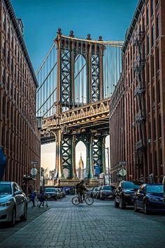 Dumbo, Brooklyn - NYC New York City Travel Honeymoon Backpack Backpacking Vacation Brooklyn Bridge, Manhattan Bridge, Brooklyn New York, Brooklyn City, Lower Manhattan, Brooklyn Dumbo, Manhattan Skyline, Photo New York, New York City Photos