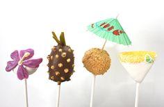 Tropical Beachy cake pops
