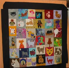 Cats quilt | Made by several people. | cicilem | Flickr