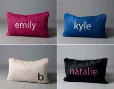 #LibbyBunting Monogram Hide Pillows / Kyle Bunting