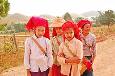Farmers with thanaka on their faces, Kalaw to Inle Lake Trek - A Photographic Glimpse into Burma via Passion Passport