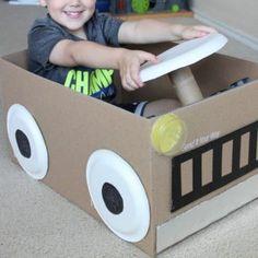 赤ちゃんの手作りおもちゃ♪段ボールで『私のキッチン、手作り冷蔵庫♪』 | 赤ちゃんの手作りおもちゃ.com
