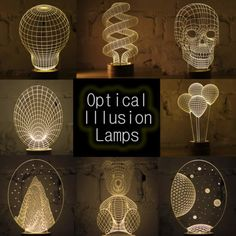 Cool Optical Illusion Lamps