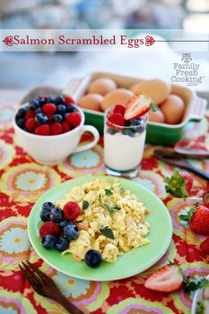Salmon Scrambled Eggs | FamilyFreshCooking.com