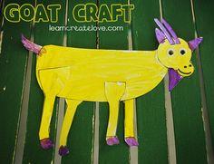 Printable Goat Craft from LearnCreateLove.com