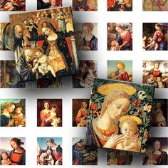 Digital Images Sheet Virgin Mary Vintage by greenvalley on Etsy