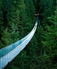 Awesome Capilano Suspension Bridge – Canada. Now that is an extension bridge!! Holy crap!