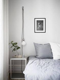 Welcome to Kastellgatan 6 (Lili Halo decoration) Scandinavian Interior Bedroom, Scandinavian Design, Eclectic Furniture, Bedroom Night Stands, Bed Wall, Dream Decor, Bedroom Decor, Bedroom Ideas, Desk