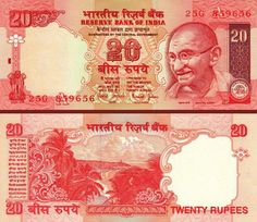 The Reserve Bank of India is all set to release a new batch of Rs 20 notes under the Mahatma Gandhi According to the source design of the new notes Sell Old Coins, Money Notes, Rich Money, Coins For Sale, Bank Of India, World Coins, Mahatma Gandhi, The Twenties, Vintage World Maps