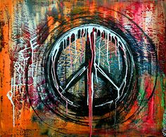 """""""Peace Bomb (abstract, modern, contemporary, art)"""" - Acrylics on Canvas, in Abstract Paintings"""