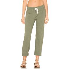 Nation Ltd Medora Capri Sweatpant ($51) ❤ liked on Polyvore featuring activewear, activewear pants, nation ltd, sweat pants, green sweatpants, nation ltd sweatpants and green sweat pants