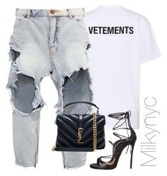 """Untitled #1026"" by milkynyc on Polyvore featuring Vetements, OneTeaspoon, Yves Saint Laurent and Dsquared2"