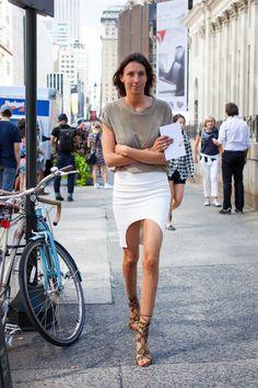 Géraldine Saglio New York fashion week street style