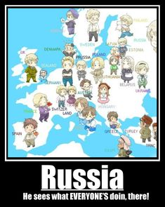 Hetalia Map. I won't lie, this show makes learning world history and geography a lot easier :D