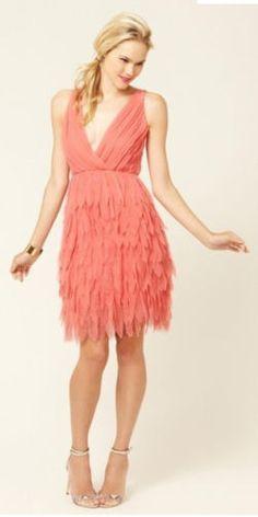 $440 NWT ALICE + OLIVIA TIBBY SILK DRESS LOW V NECK & V BACK PETAL BLUSH SIZE XS