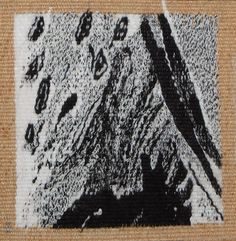 Mini-Chaos, handwoven tapestry by Janet Austin. 5x5""