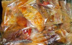 Sült oldalas sütőzacskóban sütve Shrimp, Pork, Chicken, Meat, Vegetables, Recipes, Pork Roulade, Pigs, Veggies