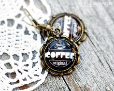Coffee brown Retro look Jewelry  Free Shipping from by MADEbyMADA, $19.00