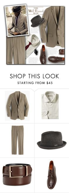 """The Well Dressed Man"" by gracekathryn ❤ liked on Polyvore featuring J.Crew, Canali, kangol, Kenneth Cole Reaction, Frye, South Lane, men's fashion, menswear, mens and MensFashion"
