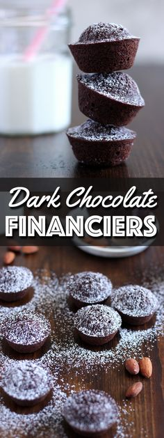 Dark Chocolate Financiers are indulgent little treats, exploding with chocolate flavor. They will satisfy any chocolate lover's craving. | wildwildwhisk.com