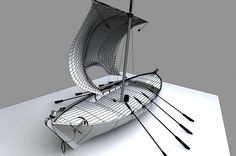 3d model sailing vessel. 3d printing. OBJ file.