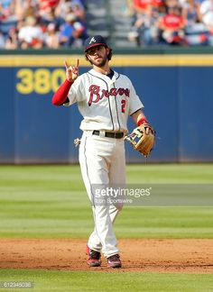 Atlanta Braves Rookie Infielder Dansby Swanson During The MLB Game Between And Detroit Tigers At Turner Field In GA