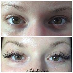 Individual faux mink eyelash extensions