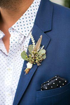 Fall groomsmen boutonnière                              …